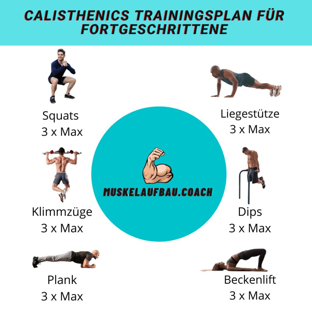 Calisthenics Trainingsplan für Fortgeschrittene