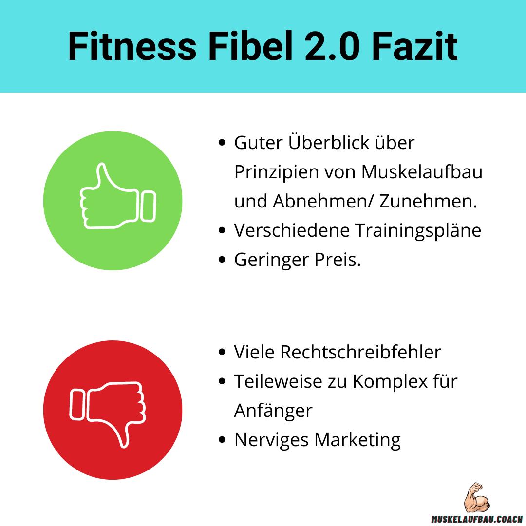 Fitness Fibel 2.0 Test - Fazit