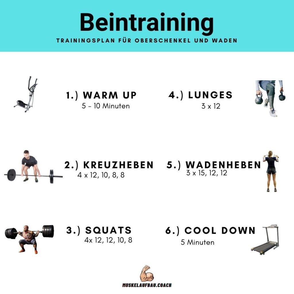 Trainingsplan Beine
