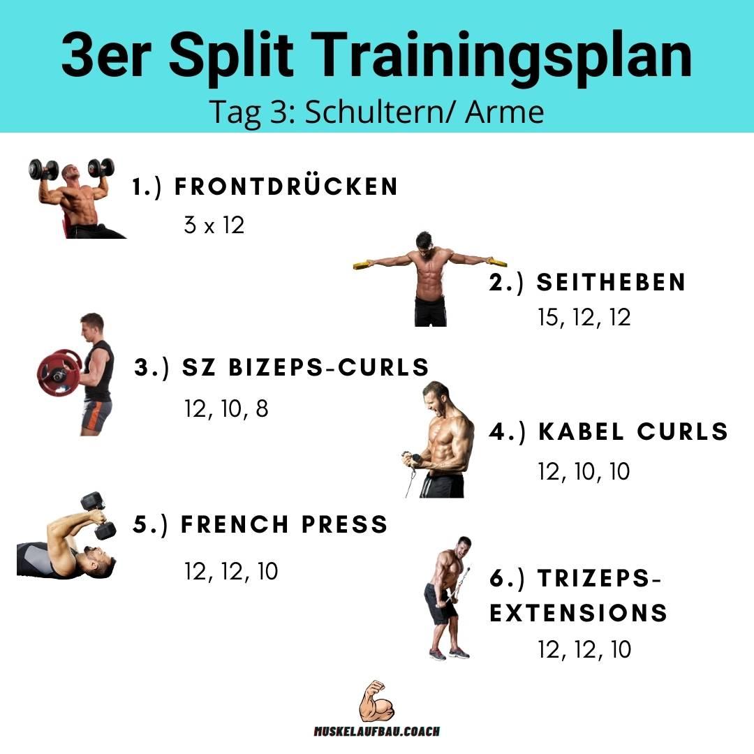 3er Split Tag 3: Schultern und Arme