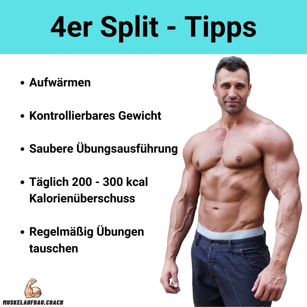 4er Split Trainingsplan Tipps