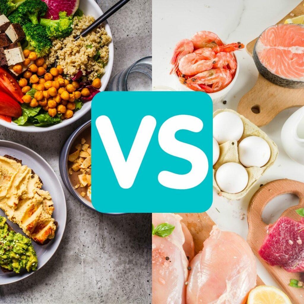 Vegan vs Fleisch